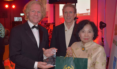Photo of award being received